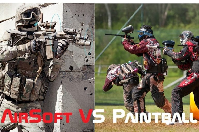 Diferența dintre paintball și airsoft